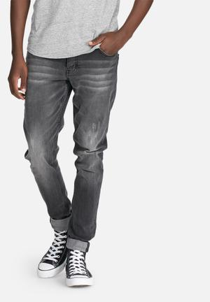 Sergeant Pepper Trench Super Skinny Jeans Grey