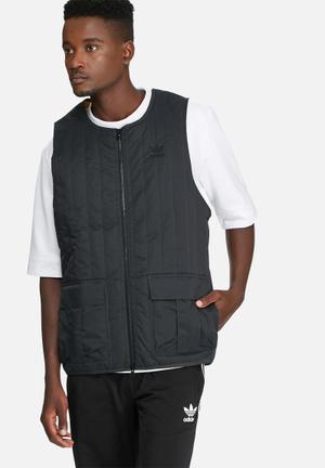 Adidas Originals St Quilted Vest Hoodies & Sweatshirts Black