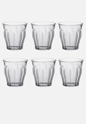 Duralex Picardie Tumblers - 130ml Set Of 6 Drinkware & Mugs  Tempered Glass (2.5 X Stronger Than Annealed Glass), Non-porous & Hygienic
