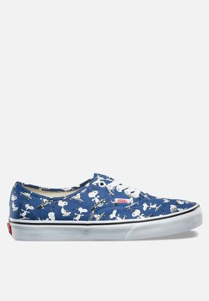Vans Vans X Peanuts Authentic Sneakers Blue With Snoopy Skating