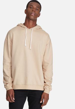 Basicthread Oversized Drop Shoulder Pullover Hoodie Sweat Hoodies & Sweatshirts Stone