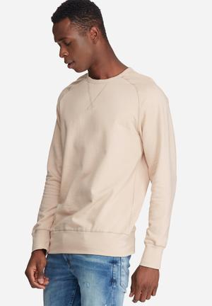Basicthread Basic Pullover Crew Sweat Hoodies & Sweatshirts Stone
