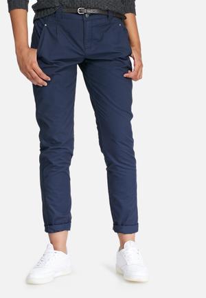Vero Moda Bondi Chino Pants Trousers Navy