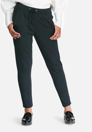 Jacqueline De Yong Pretty Ankle Pants Trousers Green Grey