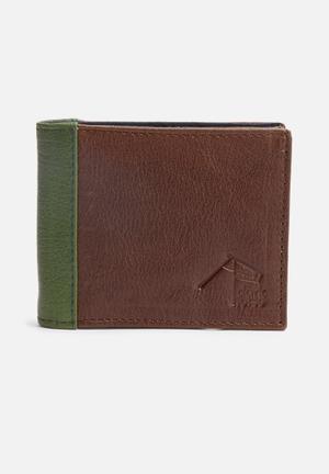 Dark Horse Timbre Wallet Brown & Green
