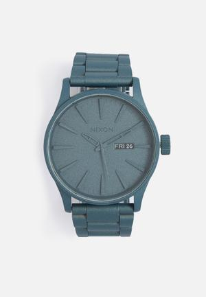 Nixon Sentry Metal Watches Blue