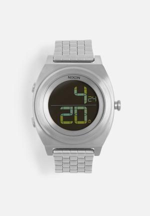 Nixon Time Teller Digital Watches Silver