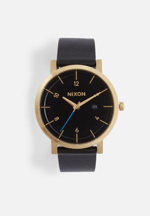 Nixon Rollo Watches Black & Gold