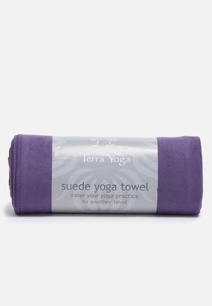 Terra Yoga Suede Yoga Towel Fitness Trackers & Accessories Dark Purple