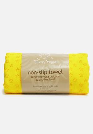Terra Yoga Non-slip Yoga Towel Fitness Trackers & Accessories Yellow