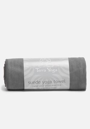Terra Yoga Suede Yoga Towel Fitness Trackers & Accessories Grey
