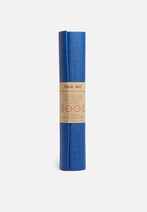 Terra Yoga Yoga Mat Eco Fitness Trackers & Accessories Blue