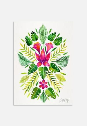 Cat Coquillette Tropical Symmetry Pink And Green Art