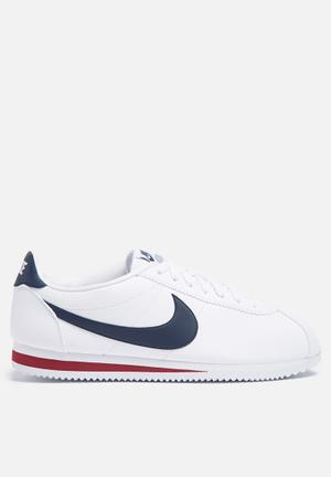 Nike Classic Cortez Leather 'Alternate' Sneakers White / Midnight Navy / Gym Red