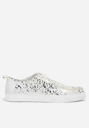 E8 By Miista Anaya Sneakers Cream & Silver