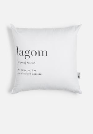 Sixth Floor Lagom Printed Cushion Cotton Twill