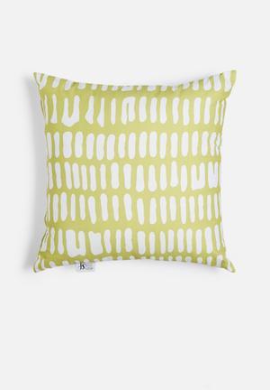 Sixth Floor Limelight Printed Cushion Cotton Twill