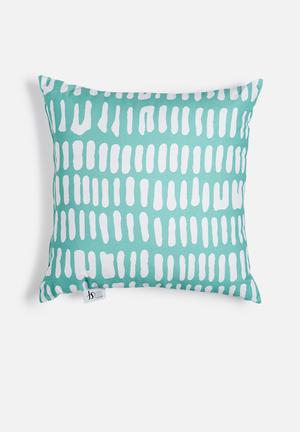 Sixth Floor Azure Printed Cushion Cotton Twill