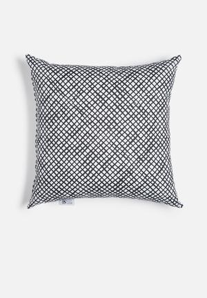 Sixth Floor Crosshatch Printed Cushion Cotton Twill