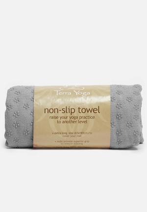 Terra Yoga Non-slip Yoga Towel Fitness Trackers & Accessories Grey