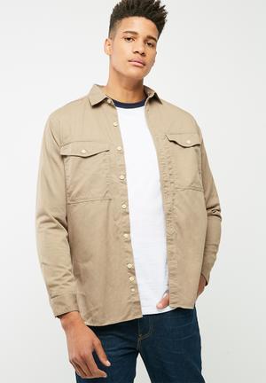 Basicthread Military Overshirt  Beige