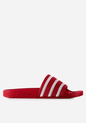Adidas Originals Adilette OG Sneakers Light Scarlett / White
