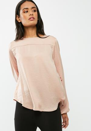 Dailyfriday Pleat Back Blouse Pale Pink