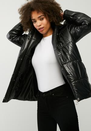 Dailyfriday Hooded Padded Jacket Black