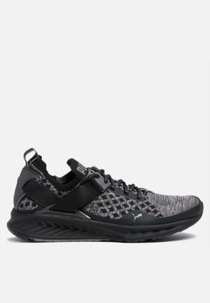 PUMA W Ignite EvoKNIT Lo Sneakers Black / Asphalt