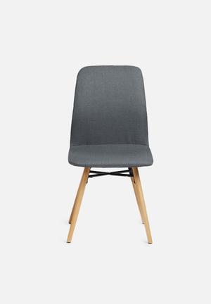 Sixth Floor Amanda Dining Chair Corsica Fabric, Metal & Oak