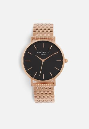 ROSEFIELD Upper East Side Watches Rose Gold & Black
