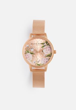 Olivia Burton Dot Design Watches Rose Gold & Pink