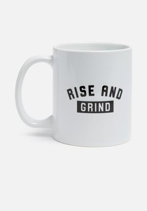 Sixth Floor Rise And Grind Mug Ceramic