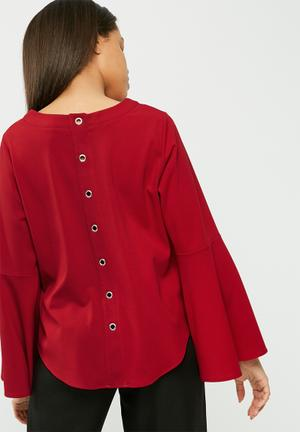 Dailyfriday Eyelet Blouse Red