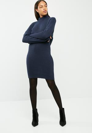 Dailyfriday Cacoon Knitwear Dress Casual Navy