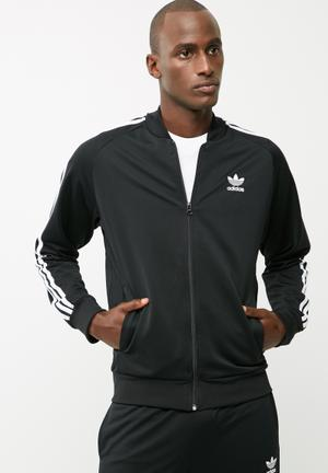 Adidas Originals Tricot Track Top Hoodies & Sweatshirts Black