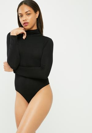 Missguided Long Sleeve Turtle Neck Bodysuit T-Shirts, Vests & Camis Black