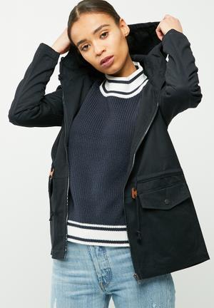 Jacqueline De Yong Mandy Short Parka Jackets Navy