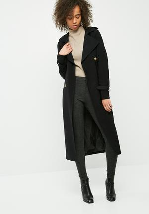 Vero Moda Pippa Long Trench Coat Black