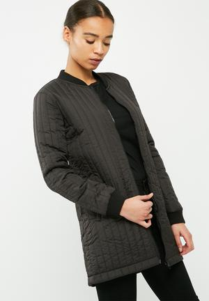Hollie quilted long jacket