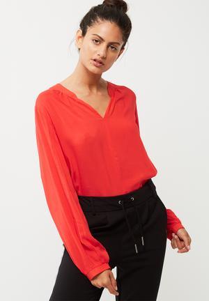 Soft gathered blouse