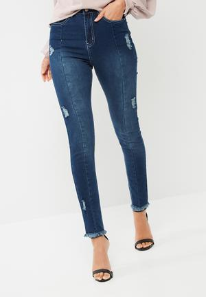 Sinner high waisted ripped skinny jeans