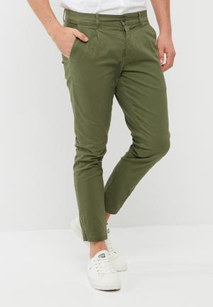 Only & Sons Hale Cropped Twill Trouser Pants & Chinos Khaki