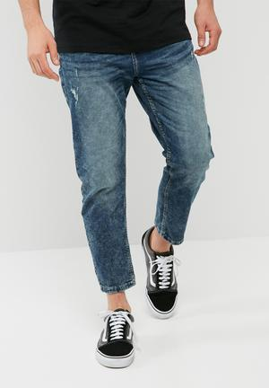 Only & Sons Beam Cropped Jog Jeans Blue