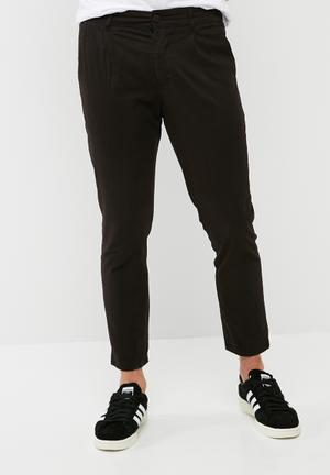 Only & Sons Hale Cropped Twill Trouser Pants & Chinos Black