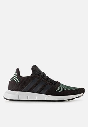 Adidas Originals Swift Run Sneakers Core Black/Utility Black/Green Glow