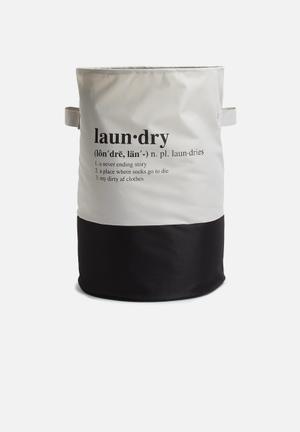 Sixth Floor 2 Tone Crunchy Laundry Bag Bath Accessories