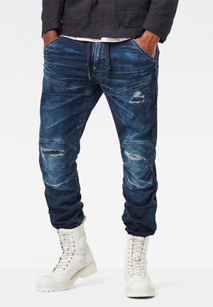G-Star RAW 5620 3D Sport Tapered Cuffed Pants & Chinos Blue