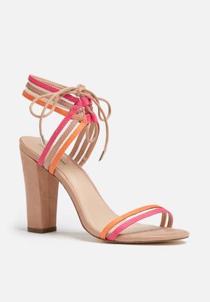 Call It Spring Astoressi Heels Beige, Orange & Pink