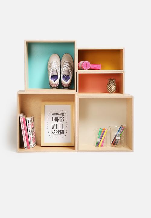 Dot dash box set multi hemma shelves for Decor 720 container